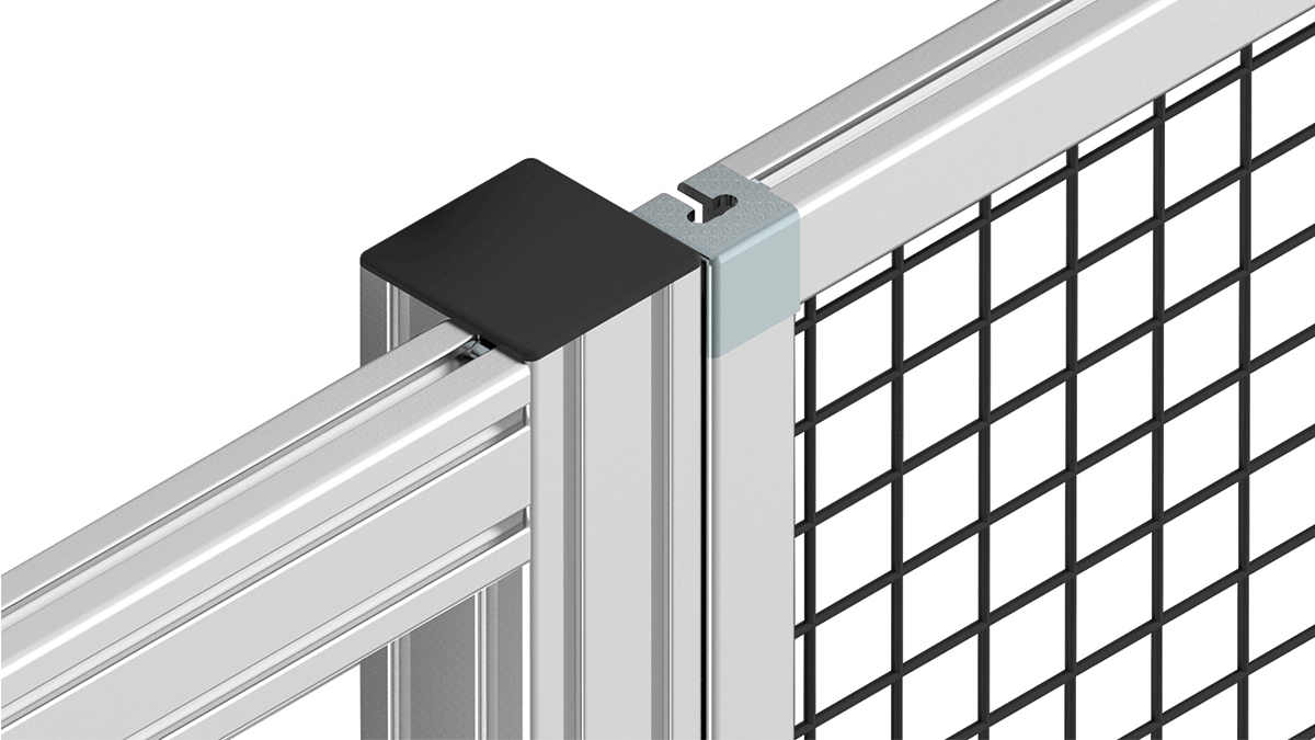 Clamp Profile for mesh guarding